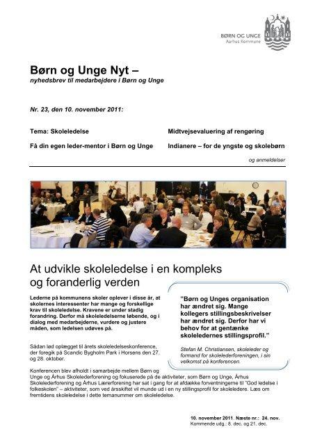 Børn og Unge Nyt nr. 23 - 2011 (pdf 2 MB) - Aarhus.dk