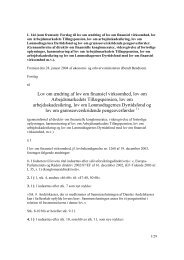 Lov om ændring af lov om finansiel virksomhed, lov om ...