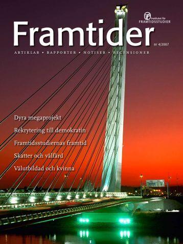 nr 4/2007 - Institutet för Framtidsstudier