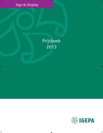 Prijsboek 2013 - Igepa Nederland BV