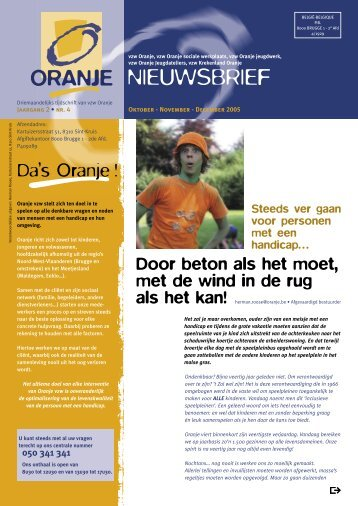 NIEUWSBRIEF - Oranje