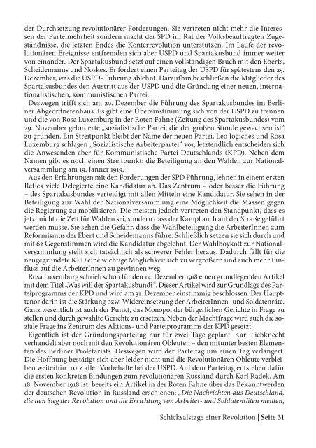 1918: Revolution in Deutschland - SLP