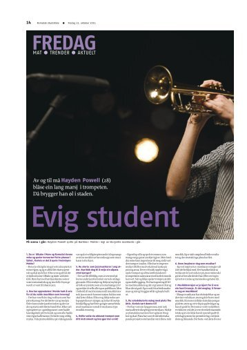 Hayden Powell - Interview in Romsdals Budstikke Oct 2011