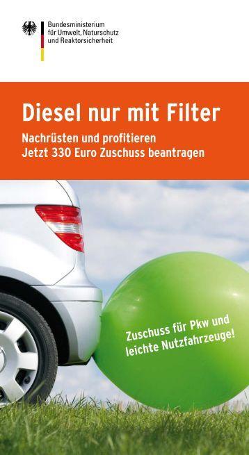 Diesel nur mit Filter