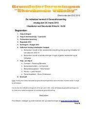 Indkaldelse til generalforsamling 2013