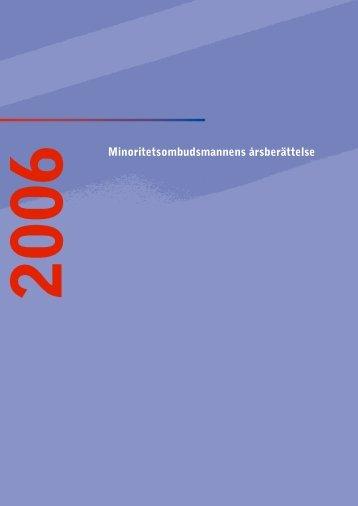Minoritetsombudsmannens årsberättelse 2006