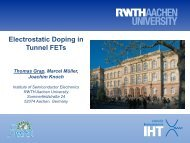 Electrostatic Doping in Tunnel FETs - steeper