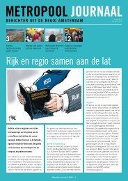 Metropool Journaal 2009 nummer 4 - Metropoolregio Amsterdam