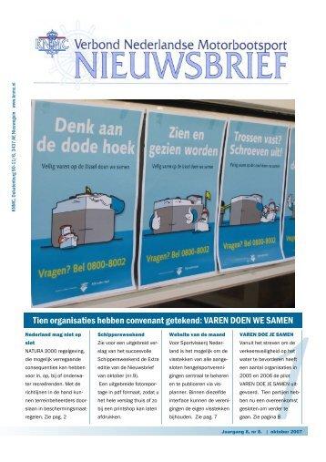 Oktober 2007 - Verbond Nederlandse Motorbootsport