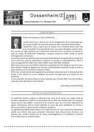 Bulletin communale décembre 2012 - Communauté de Communes ...