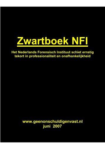Zwartboek NFI - Geen onschuldigen vast