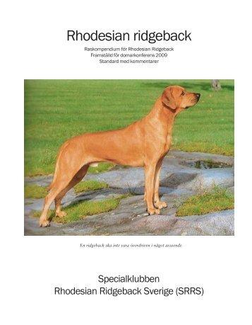 Raskompendium - Specialklubben Rhodesian Ridgeback Sverige