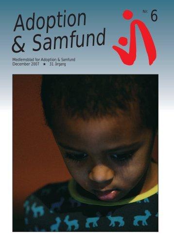 Dec. 2007 - Adoption og Samfund