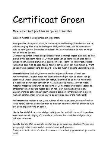 Download lesstof Certificaat Groen - Appartementenopcuracao.nl