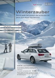 Winterzauber - Autohaus Friedmann - Audi Bühl