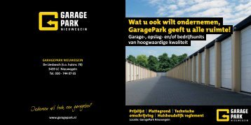 Download brochure (PDF) - GaragePark