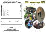 Tilmelding til Aktiv sommeruge 2011 torsdag d. 4. august - onsdag d ...