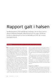 Rapport galt i halsen - SE Foreningen Danmark