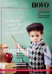 Download hier het zojuist uitgekomen Magazine - HOVO Utrecht