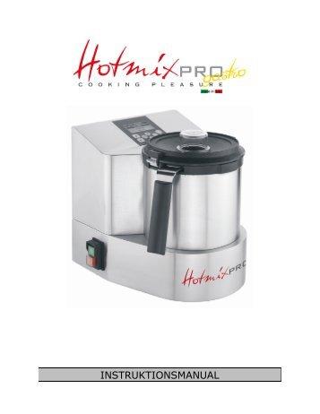 63304310_Brugsanvisninger_Hotmix Gastro Pro ... - Bent Brandt A/S
