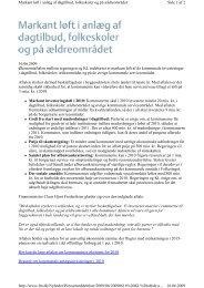 16.06.2009 Økonomiaftalen mellem regeringen og KL indebærer et ...
