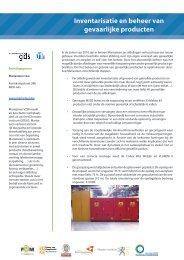 Inventarisatie en beheer van gevaarlijke producten - POM West ...
