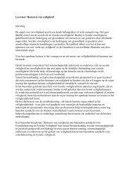 Leerstoel 'Besturen van veiligheid' Inleiding De angst ... - Crisislab