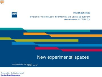 New experimental spaces - AETM