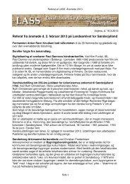 Referat fra årsmøde d. 2. februar 2013 på Landsarkivet for ... - LASS