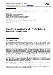 Rute 77. - Nordjyllands Trafikselskab