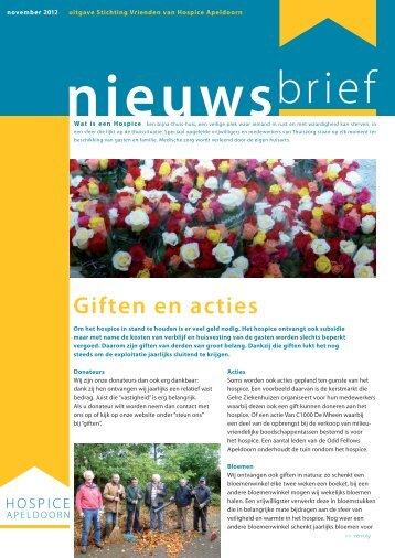 Giften en acties - Hospice Apeldoorn