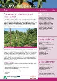 Oplossingen voor bodemmoeheid in de fruitteelt - ccbt