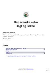 Den svenske natur Jagt og Fiskeri - Danske Torpare
