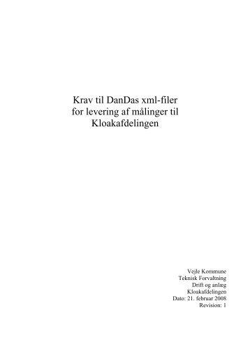 DanDas xml-filer for levering af landinspektør ... - Vejle Spildevand