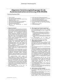 Bedingungen Auslandsreisekranken-Versicherung - Bapato.com