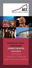 veranstaltungs- programm HERBST/WINTER 2011/2012 amberger ...