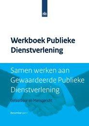 Werkboek Publieke Dienstverlening Samen werken ... - Manifestgroep