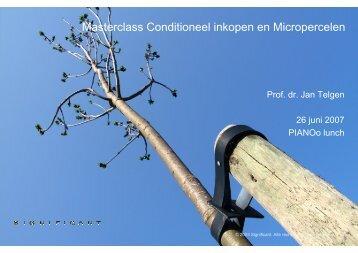 Masterclass Conditioneel inkopen en Micropercelen