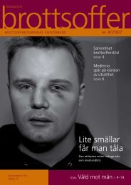 Läs tidning nummer 4 2007 här. - Tidningen Brottsoffer
