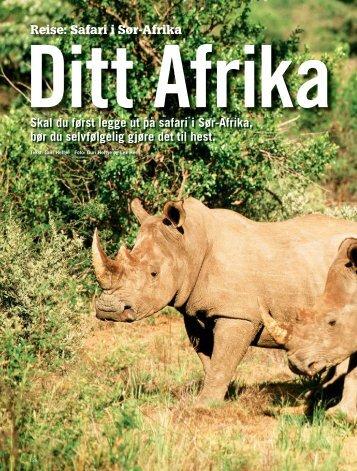 Reise: Safari i Sør-Afrika Skal du først legge ut på safari i Sør-Afrika ...