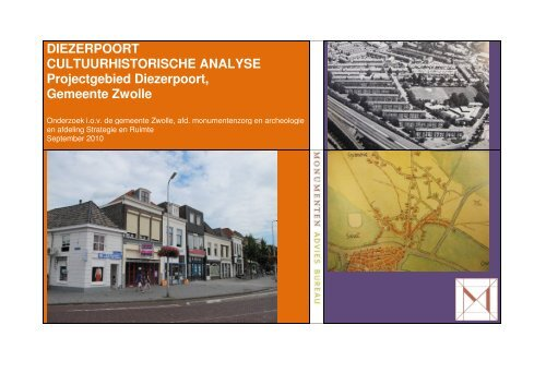 Cultuurhistorische analyse Diezerpoort - Gemeente Zwolle