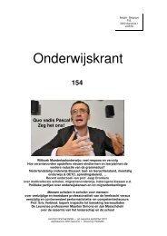 Onderwijskrant 154.pdf - Beter Onderwijs Nederland