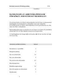 handlingsplan arbetsmiljöfrågor för köket, servicehuset bjursdalen