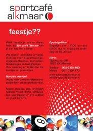 feestje?? - Sportcafé Alkmaar