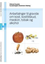 Anbefalinger til gravide om kost, kosttilskud, medicin, tobal