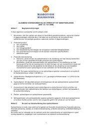 Algemene voorwaarden bij overeenkomst van opdracht Raadgevers ...