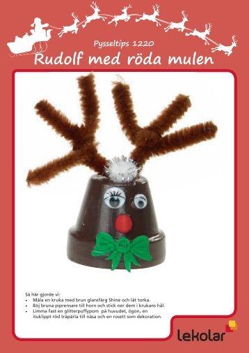 Pysseltips 1220 Rudolf med röda mulen - Lekolar
