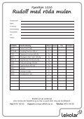 Pysseltips 1220 Rudolf med röda mulen - Lekolar - Page 2