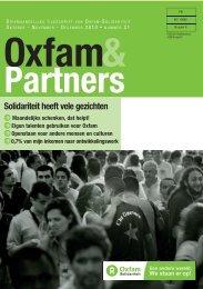 Beste lezer(es), - Oxfam-Solidariteit