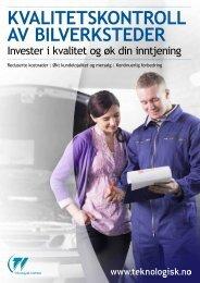 Last ned vår brosjyre om kvalitetskontroller av bilverksteder.